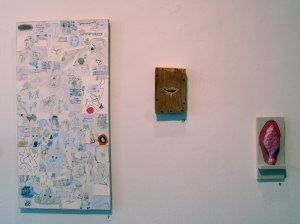 Left to right, DRIPPING FINGERS, SCRATCHES AND VOTIVE, all 2013