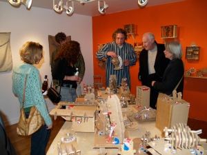Opening of Binding Forces, work by Doug Hill and Dorothy Williams, curated by Tom Sarver, PCA 2008.