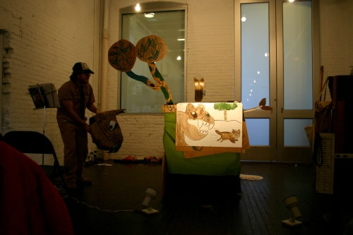 Performing: Little Tricker The Squirrel Meets Big Double The Bear, at MF.