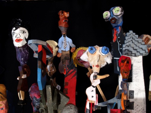 Puppet City, Installation at James Gallery, Pittsburgh, 2010