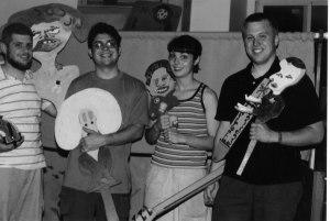 Puppet practice, 2001