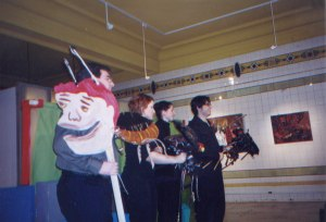 Performing a Kafka-inspired tale, AAP Gallery, 937 Liberty Ave. 2001