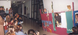 My first public puppet show at Tyler School of Art, 1997.