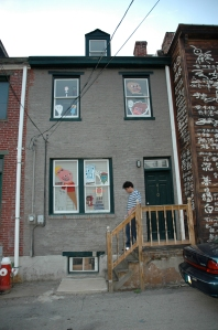 Puppets in the window. Starting The Tom Museum, 2006