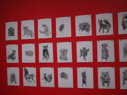 Another look at Jason Lockyer's Drawings of Taxidermy Animals.