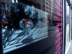 Video playing in the window by Jason Lockyer.