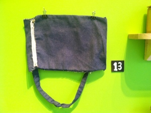 Hand-sewn bag by Doug Hill.