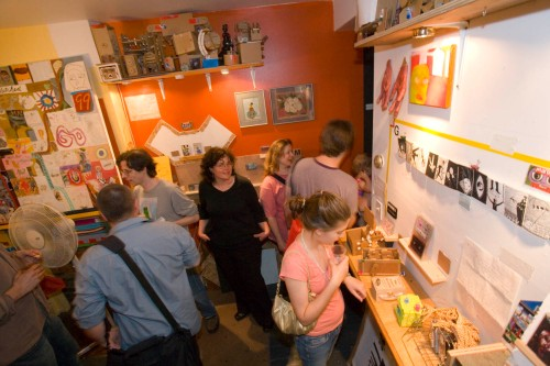 Rose Clancy at the closing reception, May 2008.