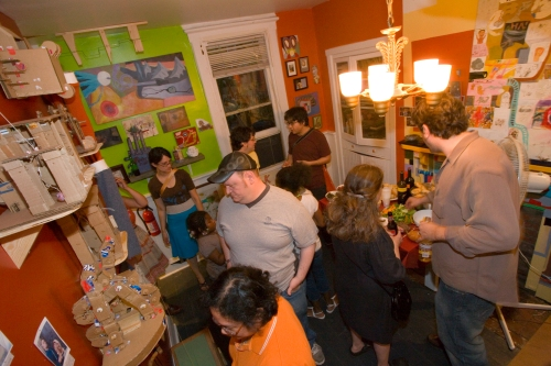 Closing reception, May 2008.