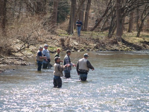 Opening day at Kettle Creek, North Central PA.