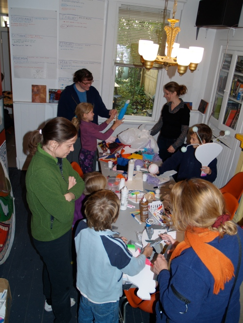 Family puppet making day was part of the Black Sheep Puppet Festival.