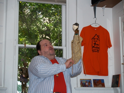 Pittsburgh puppeteer Gregory Knipling performs during puppet month.