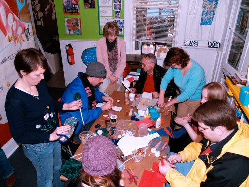 Puppet making workshop for adults.