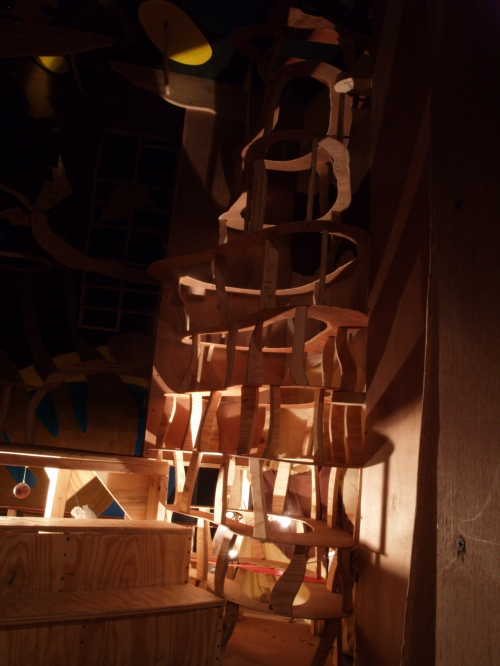 Wooden structure of Universe Room.