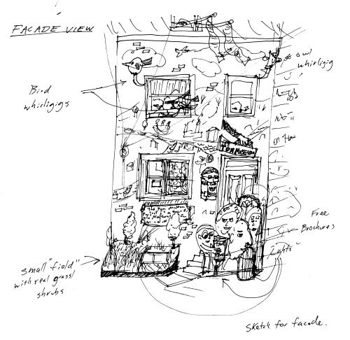 Tom Museum sketch, 2006.