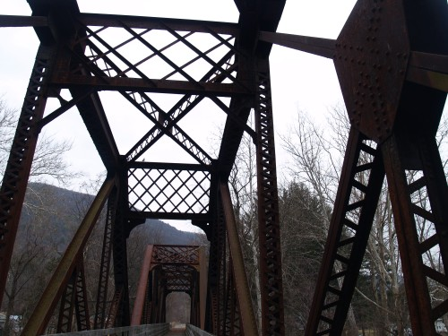 Bridge over Little Pine Creek, Waterville, PA. TS