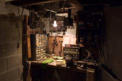 Grandfather's Workbench, a basement display.