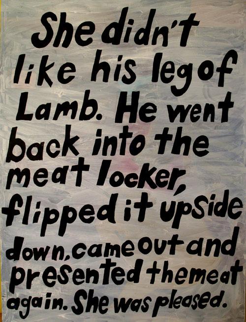 Leg of Lamb, Acrylic on canvas, 2014