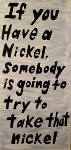 Nickel, acrylic on canvas, 2014.