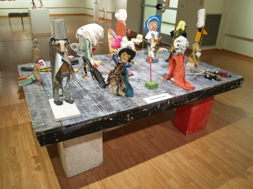 Display of puppets.
