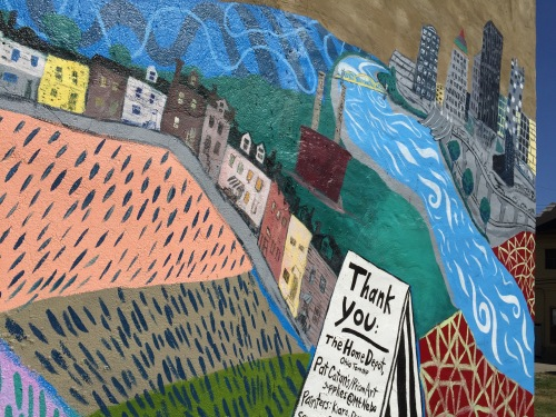 The new Northside Pittsburgh mural titled, Make Art was completed on August 24th.