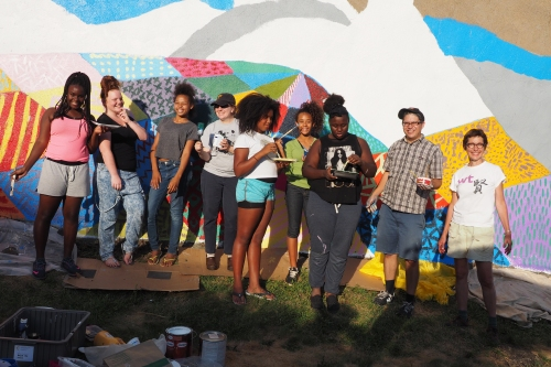 Mural workshop crew. Photo courtesy of NK Contemporary Art Center.