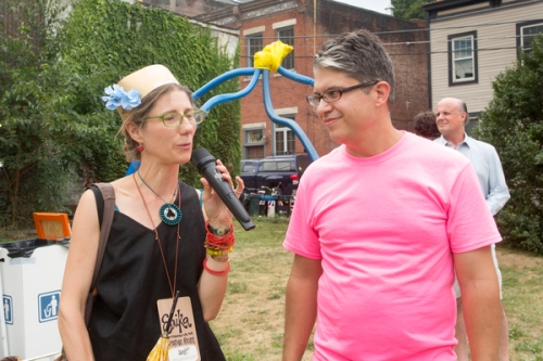 Judge Erika Johnson of Pittsburgh Center for Creative Reuse critiques the activity.
