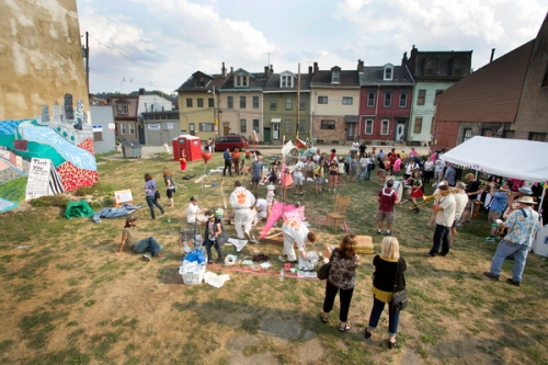 The Art Olympic Festival took place in a rare patch of green space in the East Deutschtown neighborhood of Pittsburgh.